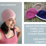 Slanted Shell Beanie – Toddler, Child & Adult Sizes by EyeLoveKnots