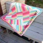 Tutti Frutti Baby Blanket by Nicole Cormier of Tunisian Crochet Chick for American Crochet