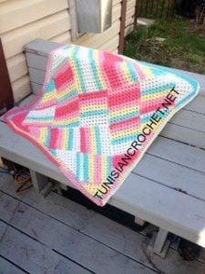 Tutti Frutti Baby Blanket by Nicole Cormier of Tunisian Crochet Chick for American Crochet