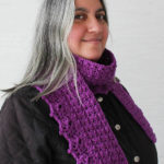 Herringbone Scarf with Lace Shells ~ Marie Segares/Underground Crafter