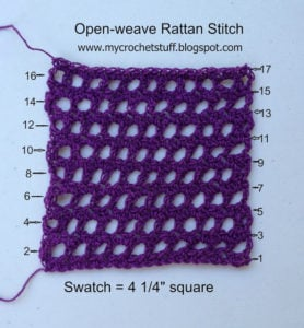 Open Weave Rattan Stitch by Crochet and Other Stuff