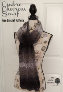 Ombre Chevrons Scarf by The Stitchin' Mommy