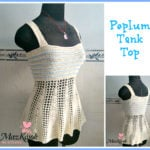Peplum Tank Top by Maz Kwok's Designs