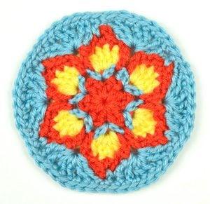 Crochet Flower Pattern Rose By Rachel Choi : Blooming Flower Coaster by Rachel Choi of Crochet Spot ...