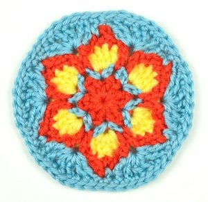 Blooming Flower Coaster by Rachel Choi of Crochet Spot