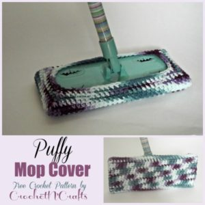 Puffy Mop Cover by Rhelena of CrochetN'Crafts