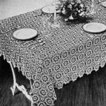 Tudor Dinner Cloth #7068 by Free Vintage Crochet