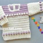 Newborn Baby Sweater by JustCrochet