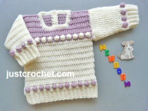 Newborn Baby Sweater by JustCrochet