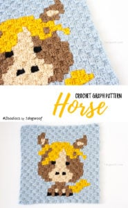 Zoodiacs Horse C2C Crochet Graph by One Dog Woof