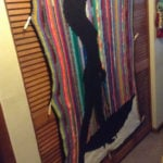Bring on the Rain (bow) Crocheted Afghan by The Happy Hooker