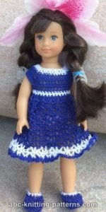 American Girl MINI Doll Bluebonnet Sundress by ABC Knitting Patterns