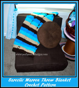 Sarcelle Marron Throw Blanket by Sara Sach of Posh Pooch Designs