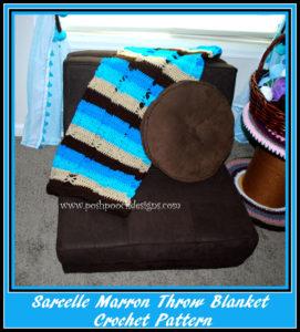 Sarcelle Marron Throw Blanket by Sara Sach of Posh Pooch Designs