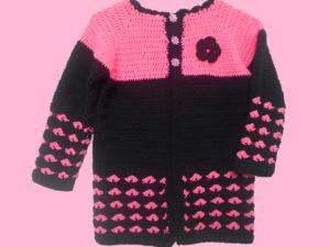 Crochet Heart Stitch Cardigan by aamragul of Crochet/Crosia Home