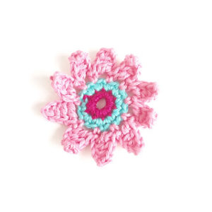 Pink Flower by Annemarie's Crochet Blog
