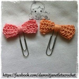Sequin Bow Applique by Damn it Janet, Let's Crochet