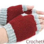 Jersey Mitts for Christian by Kim Guzman of CrochetKim