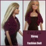 Criss Cross Shrug for the Fashion Doll by Rhelena of CrochetN'Crafts