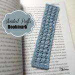 Slanted Puffs Bookmark by Rhelena of CrochetN'Crafts