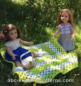 American Girl Doll Summer Meadow Afghan by ABC Knitting Patterns
