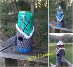 Shark! Beverage Cozy by Tera Kulling of Trifles N Treasures