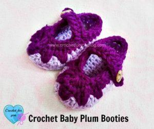 Baby Plum Booties by Erangi Udeshika of Crochet For You