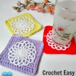 Easy Square Coaster by Erangi Udeshika of Crochet For You