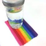 "Colorful Rainbow Mug Rug by Caissa ""Cami"" McClinton for Crochet Spot"