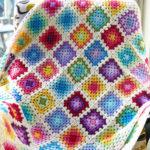Colorful Rainbow Granny Blanket by Haak Maar Raak