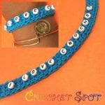 """I Love Crochet"" Beaded Bracelet by Caissa ""Cami"" McClinton for Crochet Spot"