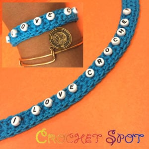 """I Love Crochet"" Beaded Bracelet by Caissa ""Cami"" McClinton for Crochet Spot"