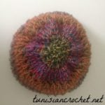 Rainbow Slouchy Beanie by Tunisian Crochet Chick for Cream Of The Crop Crochet