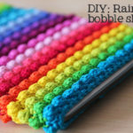 Rainbow Bobble Tablet Sleeve by Haak Maar Raak