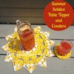 Summer Solstice Table Topper and Coasters by Nicole Cormier for American Crochet