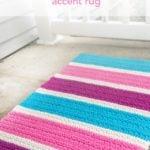 Bubble Gum Accent Rug by Rebecca Langford of Little Monkeys Crochet