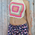 Granny Square Halter Top by Jane Green of Beautiful Crochet Stuff
