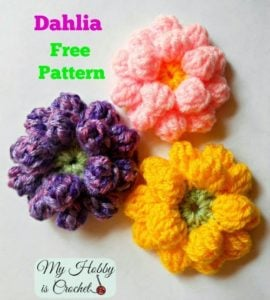 Dahlia Flower by My Hobby is Crochet