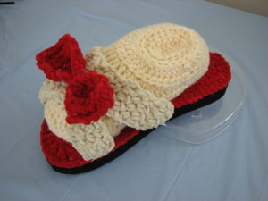 Red Bow Sandal by Donna's Crochet Designs