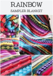Rainbow Sampler Blanket by Haak Maar Raak