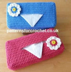 Tissue Box Cover by Patterns For Crochet