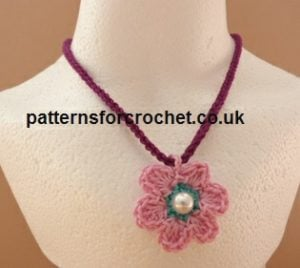 Flower Necklace by Patterns For Crochet