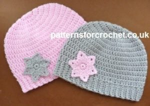 Rib Beanie with Star Applique by Patterns For Crochet