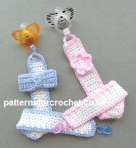 Motif Pacifier Clip by Patterns For Crochet