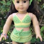 American Girl Doll Two-Piece Swim Suit by ABC Knitting Patterns