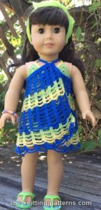 American Girl Doll Beach Cover-Up by ABC Knitting Patterns