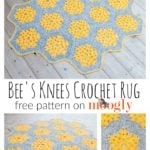 Bee's Knees Crochet Rug by Moogly