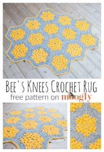 Bee's Knees Crochet Rug by Moogly