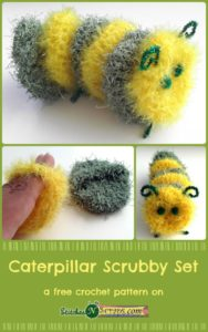 Caterpillar Scrubby Set by Stitches 'N' Scraps