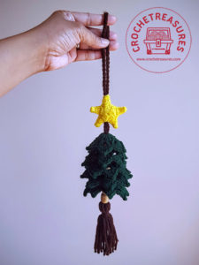 Christmas Tree Hanging Ornament by Crochet Treasures